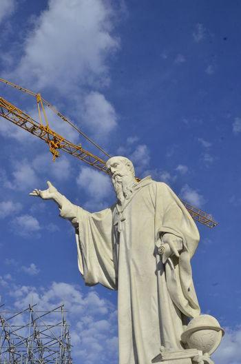 S.Benedetto Cloud - Sky Day Earthquake Earthquake Area Earthquake In Italy Fine Art Statue Human Representation No People Outdoors Religion Representation Sculpture Sky Spirituality Statue