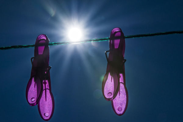 backlight Backlight Blue Sky Clothes Peg Clothesline Clothespin Clothing Day Hanging Magenta No People Outdoors Sky Sun Sunlight Water