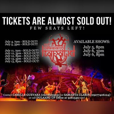 This is definitely some great news to wake up to! AngNawalangKapatid opens tomorrow but tickets are almost sold out!!! Hurry!!!
