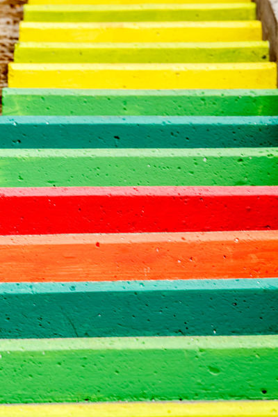 Madeira Island Steps Backgrounds Close-up Day Green Color Ladder Steps Multi Colored No People Outdoors Red Steps And Staircases Vibrant Color Yellow