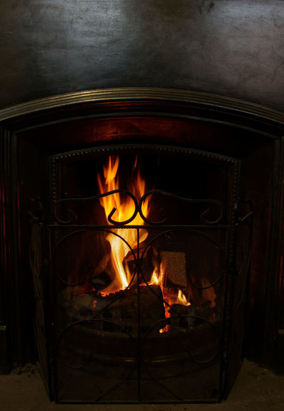 Fire - Natural Phenomenon Flame Heat - Temperature Burning Indoors  No People Close-up Coal Fire