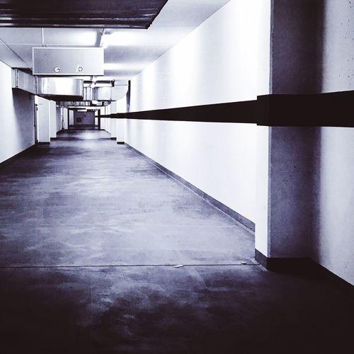 Blackandwhite The Way Forward Indoors  Architecture Built Structure Corridor No People Illuminated