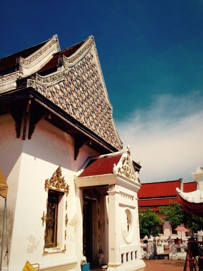 Architecture Building Exterior Built Structure Religion Place Of Worship Low Angle View Sky No People Spirituality Day Outdoors Thailand Timeless History Buddhist Temple