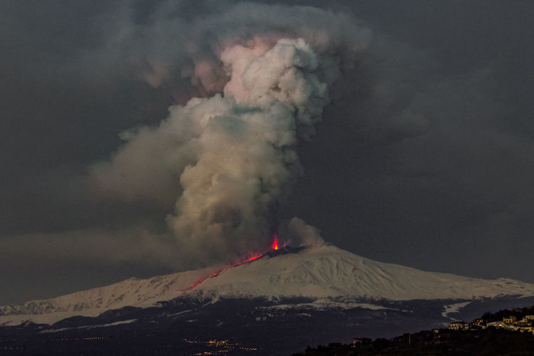 Mountain Smoke - Physical Structure Volcano Geology Erupting Beauty In Nature Power In Nature Environment Sky Power Landscape Active Volcano Non-urban Scene Scenics - Nature Lava Land Mountain Range Physical Geography Cloud - Sky No People Emitting Outdoors Mountain Peak Volcanic Crater Snowcapped Mountain