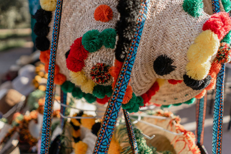 Marrakesh Marrakech Morocco Travel Destinations Tourist Destination Travel Photography Travel Wool Art And Craft Multi Colored No People Close-up Focus On Foreground Market Crochet Craft Retail  Hanging Outdoors Textile Hat Traditional Clothing