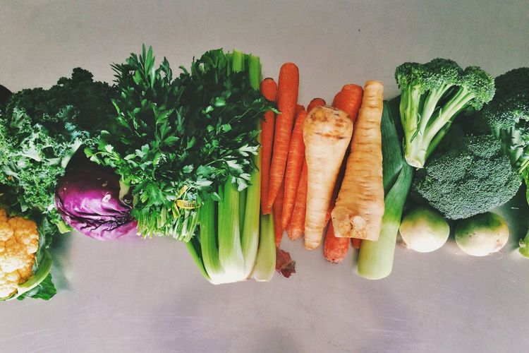Close-Up Of Fresh Vegetables With Copy Space