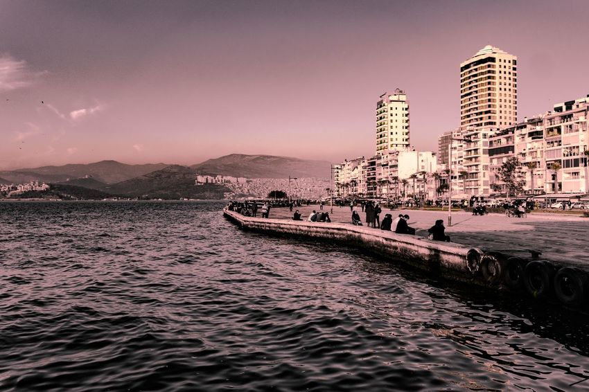 Izmir Izmirlife Izmir Turkey Turkey Türkiye Turkeyphotooftheday EyeEmNewHere EyeEm Best Shots EyeEm Nature Lover EyeEm Selects EyeEm Gallery Bestoftheday Wallpaper Backgrounds Sea Sea And Sky Seaside Sea View Cityscape Building Exterior City