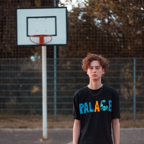 EyeEm Selects Basketball - Sport Sport Front View One Person Basketball Player Basketball Hoop Sports Clothing Court People Curly Hair Outdoors Adult Standing Playing Leisure Activity Adults Only Competition Sports Uniform Only Men Day Greeting Card  Greeting Card  Paper Sommergefühle