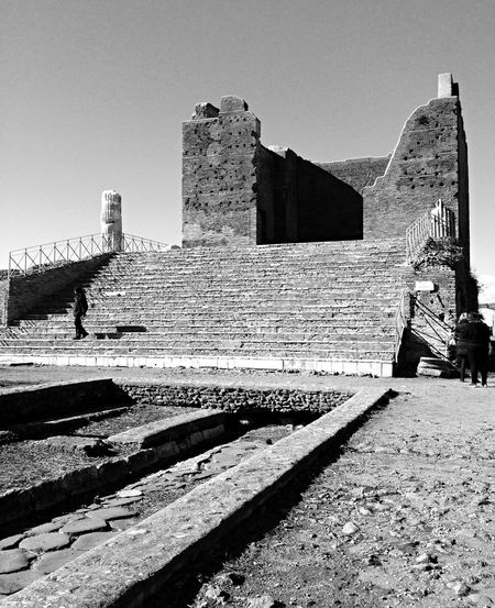 Ancient Civilization Ancient Structure Black & White Building Capitolum Old Ruin Ostia Antica Ruined Archaeology