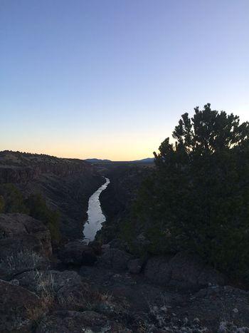Morning Morning Camping gorge rio grande Río Grande river New Mexico