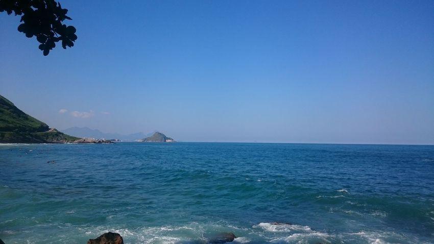 Blue Wave Rio De Janeiro Brazil Prainha Beach Sun
