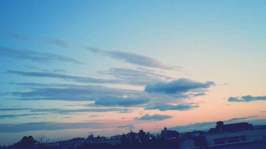 Sunset Cloud - Sky A Peaceful Evening Nature Toyonaka-shi