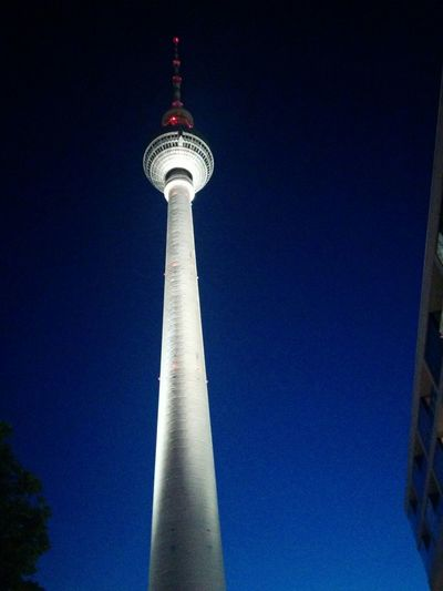 When the night is magical - first real Summer Night this year? Alexanderplatz Fehrnsehturm TV Tower in Berlin Germany, Deutschland Blue Sky Nightphotography Night Lights Night Sky Summer, No People The Architect - 2016 EyeEm Awards
