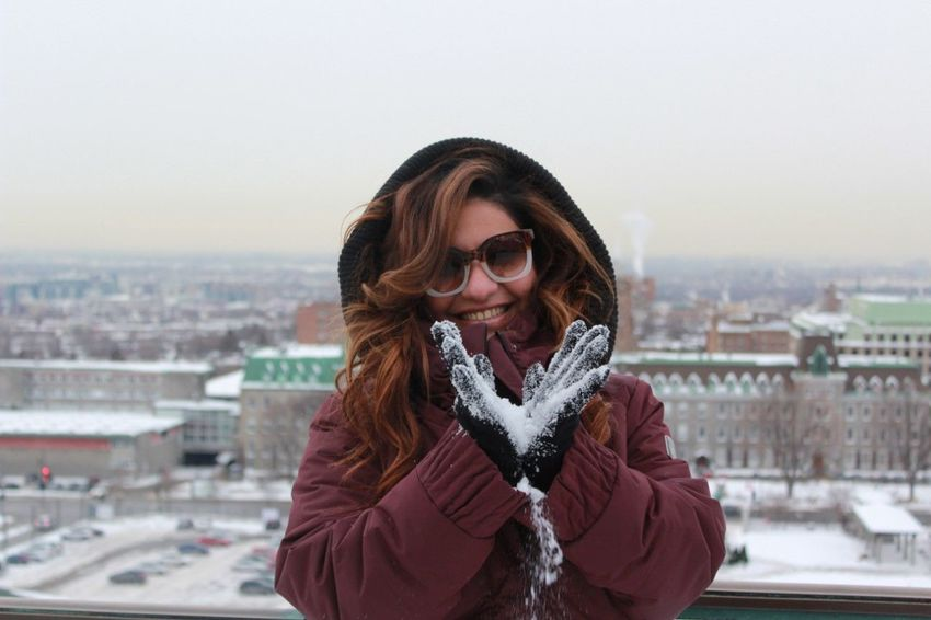 Snow ❄ EyeEmNewHere Brown Hair Front View Warm Clothing Adult One Person Only Women Winter One Woman Only Cold Temperature Long Hair Outdoors Portrait Headshot EyeEm Ready   The Portraitist - 2018 EyeEm Awards