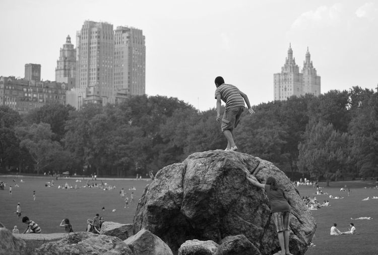 Central Park New York Old Photo Black and White Found On The Roll