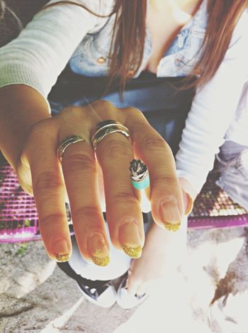 Nailart  Nails Nailpolish Cigarette  Smoke Smoking Gold Outfit Friends Photo Photooftheday Check This Out Converse Ring Jewelry Hair Long Hair Chill Relaxing Awesome EyeEm Gallery Fun Star Hanging Out Things I Like Non-smoker, but photo-addicted.