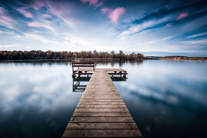 Breitenauer See Water Lake Pier Outdoors Landscape Nature Beauty In Nature No People Reflection Day Sky First Eyeem Photo