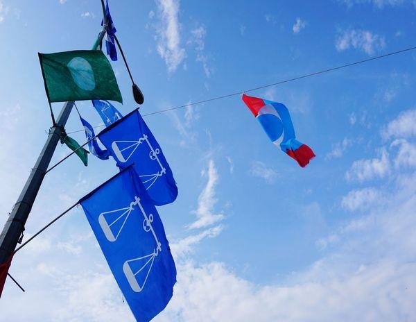 Malaysia election Barisan_nasional Barisan KeADILan PKR Pakatanrakyat Pakatanharapan Pas Pru Pru14 Justice Blue Sky Cloud - Sky Bunting Flag National Flag Patriotism