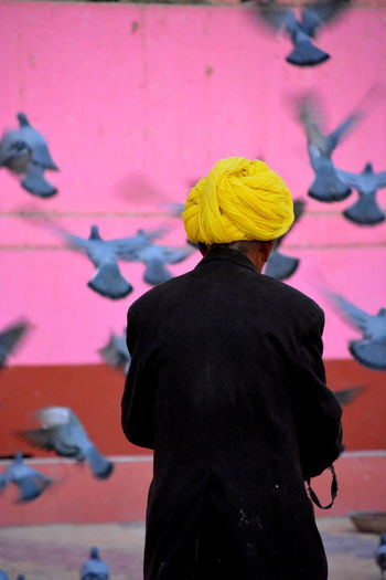 India The Street Photographer - 2018 EyeEm Awards Day Men People Pink Color Real People Standing Three Quarter Length Turban