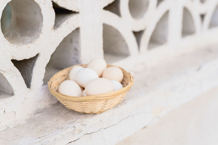 Pastel Power Basket Close-up Container Day Egg Eggs Food Food And Drink Freshness Healthy Eating High Angle View Large Group Of Objects Nature No People Outdoors Raw Food Still Life Table Wellbeing White Color Wicker