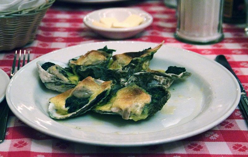 Oysters Rockefeller! !!! At Oyster Bar at Grand Central Terminal New York Restaurant