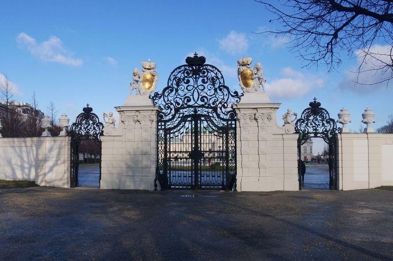 Architecture Austria Belvedere Built Structure Gates Of Belvedere No People Outdoors Travel Destinations Vienna