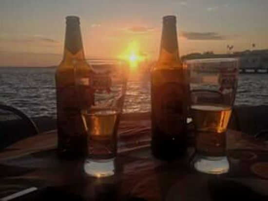Drinking Beer Moretti Italy Lago Trasimeno Passignano Vacation <3