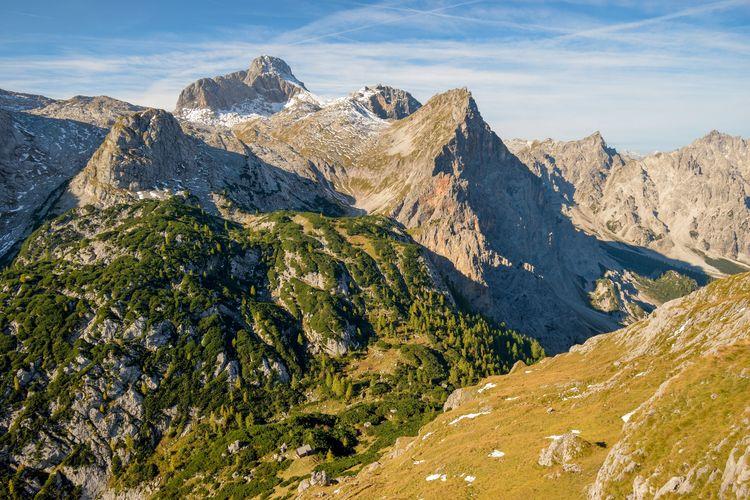 Trischuebel pass between watzmann and steinernes meer, berchtesgaden national park, bavaria