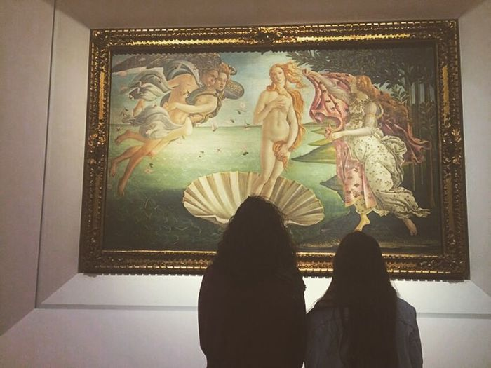 Amazed. Botticelli Venere Firenze Friends Art And Craft Indoors  Human Representation Spirituality Place Of Worship Florence Taking Photos Enjoying Life Hello World