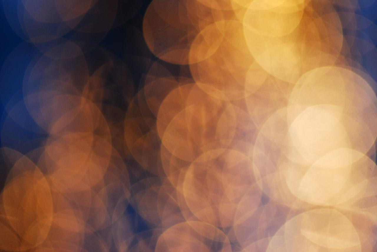 Defocused image of spotlights