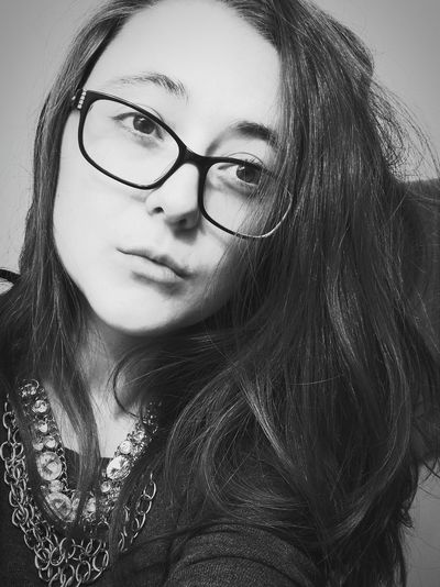 Thats Me  Black And White Long Hair Self Portrait Shameless I Am Beautiful Canadian No Makeup