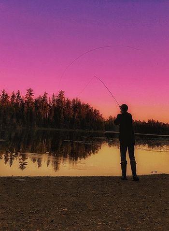 Zen Moments Silhouette Fly Fishing Beauty In Nature Live Your Dream .. Share Your Passion .. Photography Moments In My Element🔮 Minnesota Zen Moments Troutfishing