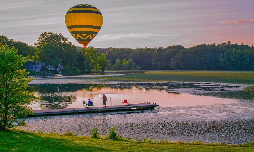 Hot Air Balloons Fishing Here Belongs To Me