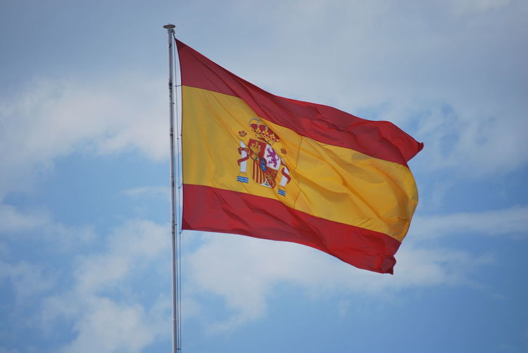 Barcelona Barcelona, Spain Catalonia Catalunya Cloud - Sky Day Flag Flags In The Wind  Low Angle View No People Outdoors Patriotism Red Sky SPAIN Unity Yellow