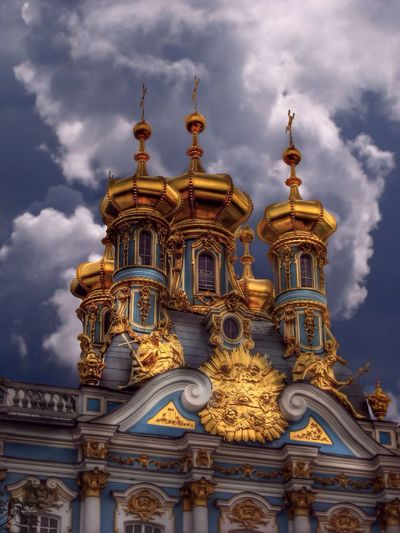 Dome of the Church of the Resurrection (1756 Architect S. Chevakinsky). Catherine Palace. Pushkin. Russia Church Architecture Bluetastic EyeEm Best Shots