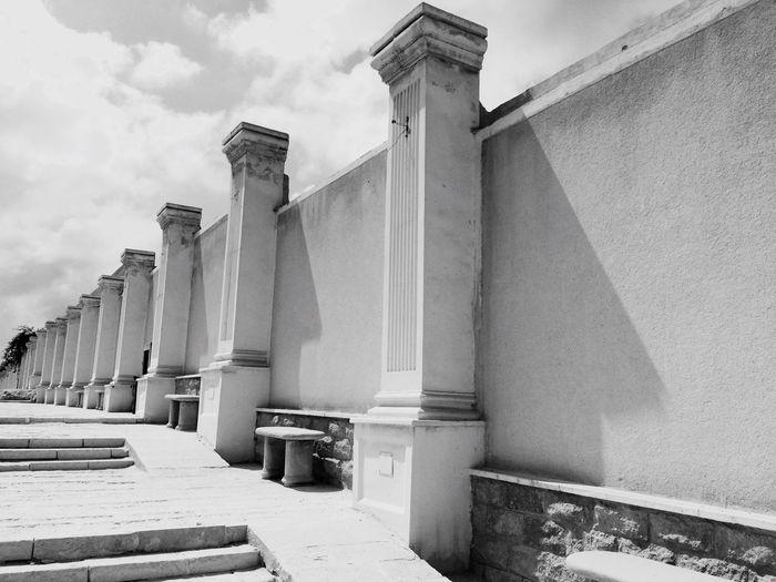 Around the Pompey's Pillar. Walls Alexandria Pompey's Pillar Egypt Travel Blackandwhite Blackandwhite Photography Art Architecture
