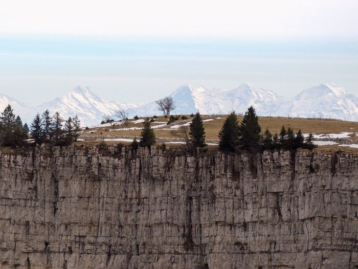 autumn mood Autumn colors Creux Du Van Swiss Alps Rock Formation Rock Formation Mountain Sky Cold Temperature Nature Scenics - Nature Mountain Range No People Day Snow Winter Tranquil Scene Environment Plant Outdoors Land