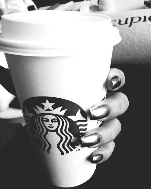 Starbucks Starbuckscoffee Nails Nailporn Blackandwhite PhotographyLarge Group Of Objects Coffee No People Indoors  Focus On Foreground Nails Art First Eyeem Photo