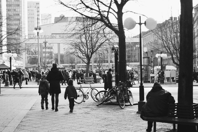 Stockholm Sweden Blackandwhite Black And White Streetphotography Street Photography Market Fine Art Photography People Together Monochrome Photography