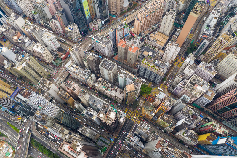 Hong Kong downtown city from top Above Aerial Apartment Architecture Bay Bird Building Causeway Center City Cityscape Corporate Down Downtown Drone  Eye Fly Hall Hk Hong HongKong House Island Kong Kowloon Mall Outdoor Over Po Residential  Sham Shopping Shui Skyline Top Top Down Urban View