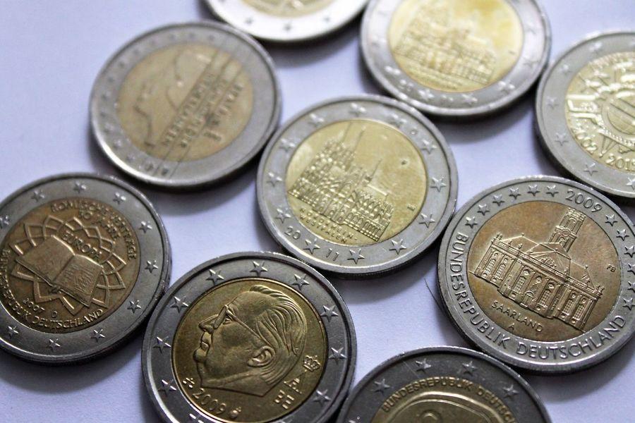 2 Euro coins Coins Currency Euro Coin Euro Coins Euromünzen Geld Money Münzen Münzenberg Währung
