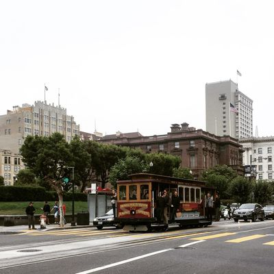 Original San Francisco trolley, California Street line. City Street Mobility In Mega Cities Mood Captures San Francisco, California Trolley City Photography San Francisco Bay Transportation Urbanphotography Vintage Cars