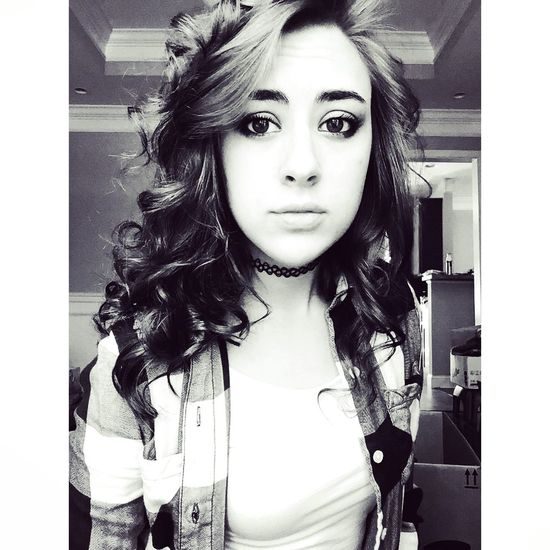 Love Cute Hello World Hi! Hi! ☺ Choker Flannel Curls Straightface Blackandwhite