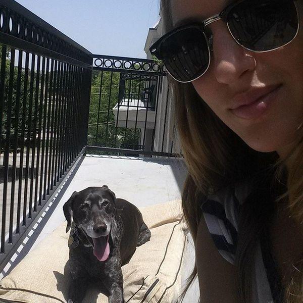 Beau and I getting sun during lunch break workonsaturdays Citydog