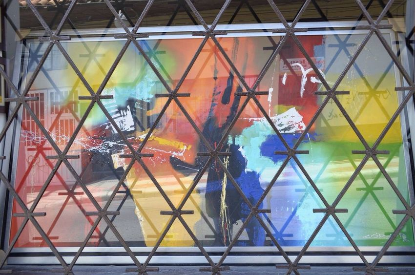 Multi Colored Day Reflection Painting Colors Perspective From My Point Of View In The Street Tunja Who Otherside