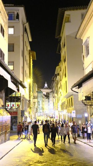 Florence street scene Paint The Town Yellow