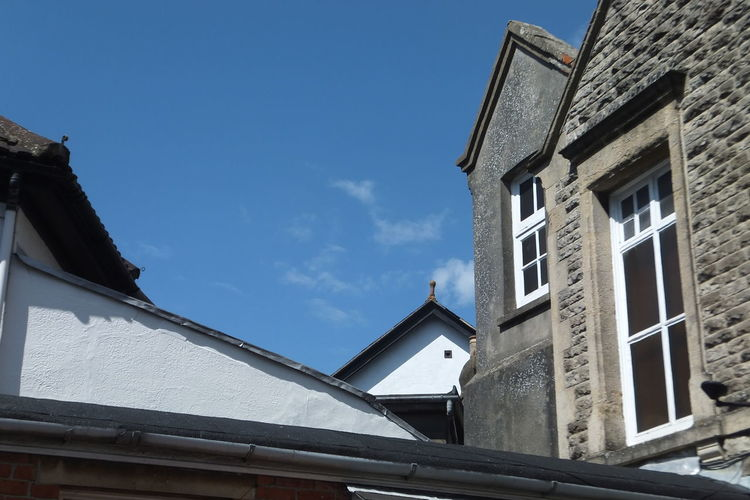 Buildings Look Up Old Town Skyline Summer Sky  Swindon