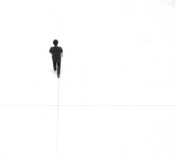 The Calmness Within Eyeem Philippines Black And White Minimalism Eye4photography  A Bird's Eye View Street Photography