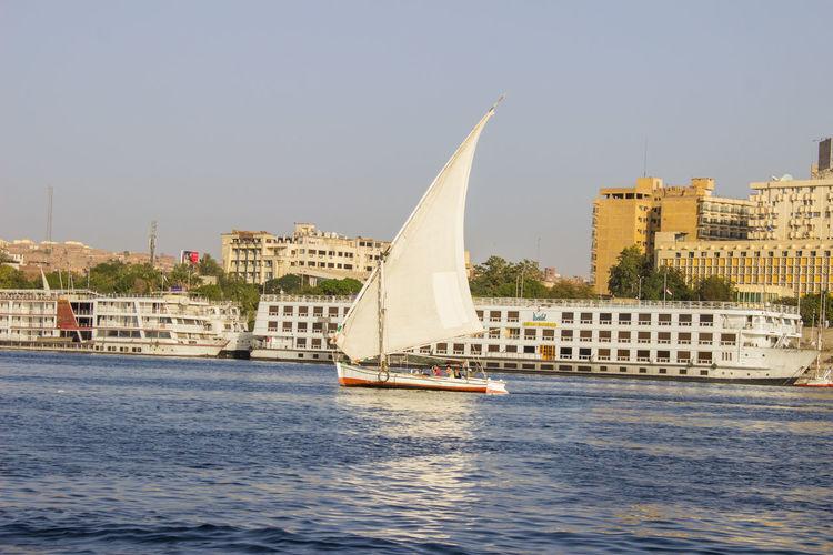 Sailboat Water City Outdoors Cityscape Nautical Vessel Sky EyeEm TheWeekOnEyeEM EyeEmNewHere EyeEm Selects Travel Vacations Aswan NileRiver