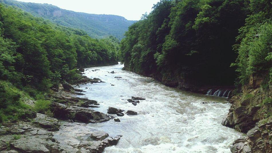 река-водопад Mountain View россияматушка Адыгея
